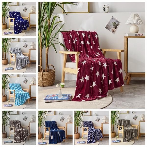 Microplush Fleece Throw Blanket Ultra-Soft Velvet Throw For Couch/Sofa