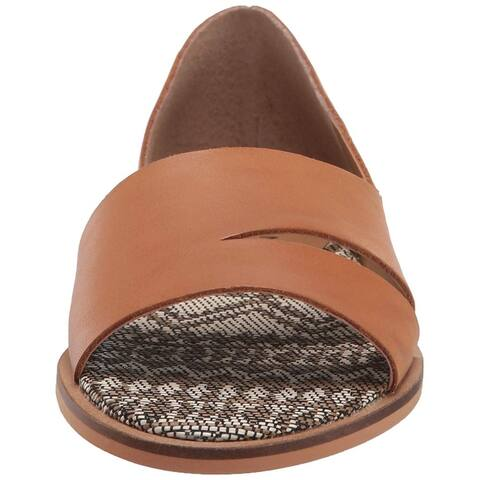 Lucky Brand Womens Felicitas Leather Open Toe Loafers