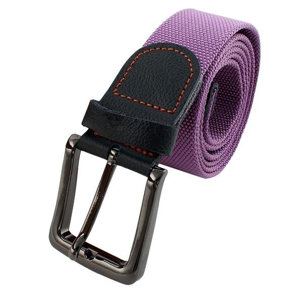Unisex Outdoor Casual Nylon Adjustable Canvas Web Waist Belt Purple