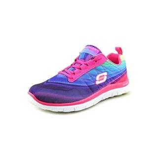 Skechers Flex Appeal Pretty Please Round Toe Synthetic Sneakers
