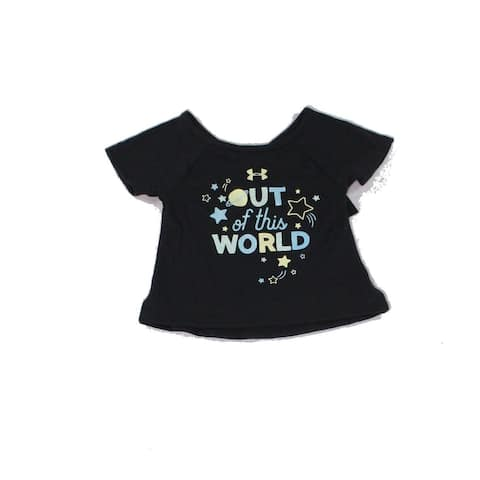 Under Armour Baby Girls T-Shirts Black Size 2T Out Of This World Graphic 349