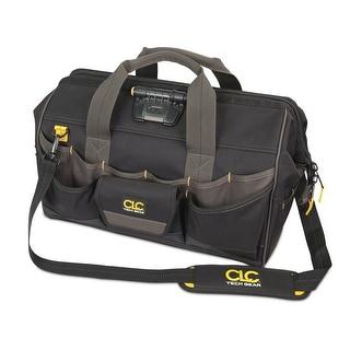 "CLC L232 45 Tech Gear LED Lighted Big Mouth Tool Bag, 18"""