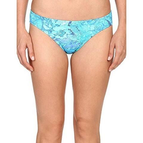 Ralph Lauren Women's Floral Hipster Swimsuit Bottoms, Plate Blue, 14