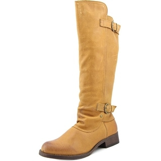 Rocket Dog Cato Women Round Toe Leather Tan Knee High Boot
