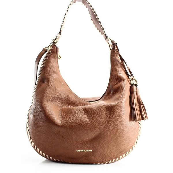 b060506e83bd Shop Michael Kors NEW Brown Acorn Leather Lauryn Large Shoulder Tote ...