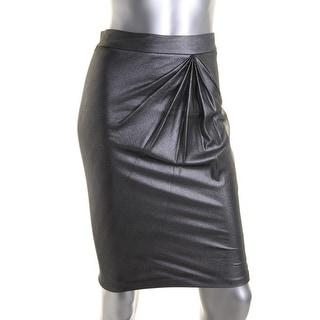 Catherine Malandrino Womens Metallic Pleated Straight Skirt - 2