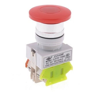 Red Mushroom Cap 4 Terminals 22mm Panel Cutout Dia Emergency Switch