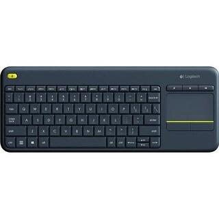 Logitech ZM7430 K400 Plus Touchpad Wireless Keyboard, Black