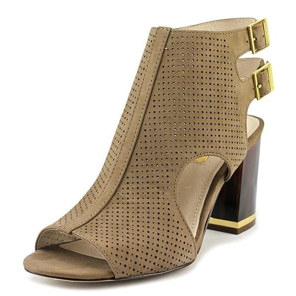 Louise et Cie Vanita Women Open-Toe Leather Tan Heels