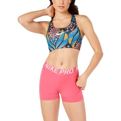 Nike Womens Sports Bra Medium Support Training - Black Multi - S