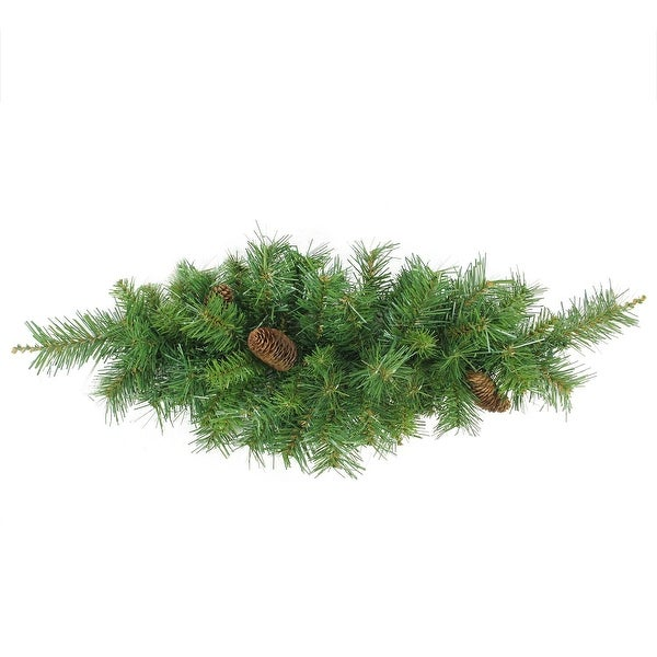 """32"""" Dakota Red Pine Artificial Christmas Swag with Pine Cones - Unlit - green"""