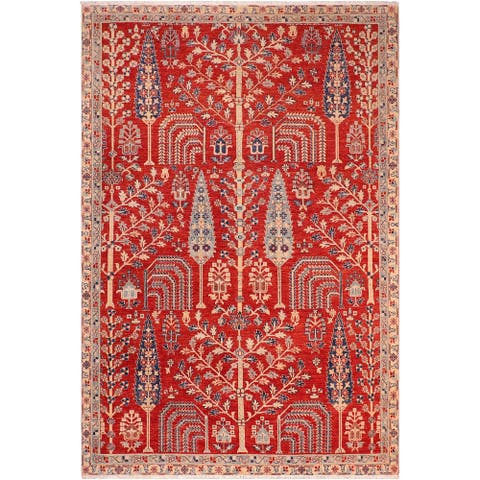 """Boho Chic Ziegler Adele Hand Knotted Area Rug -6'7"""" x 9'8"""" - 6 ft. 7 in. X 9 ft. 8 in."""