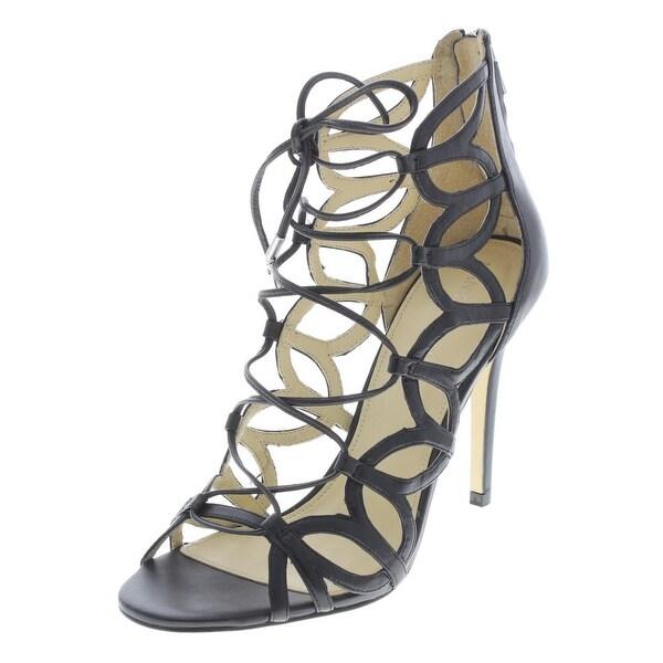 952f9d853a9 Ivanka Trump Womens Hela Dress Sandals Leather Open Toe - 9.5 medium (b,m)