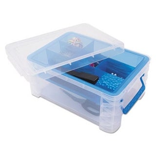 10.3 x 14.25 x 6.5 in. Super Stacker Divided Storage Box, Clear