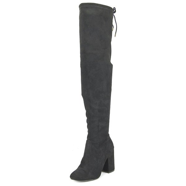 e1f45446255 Steve Madden Norri Women Round Toe Synthetic Black Over the Knee Boot