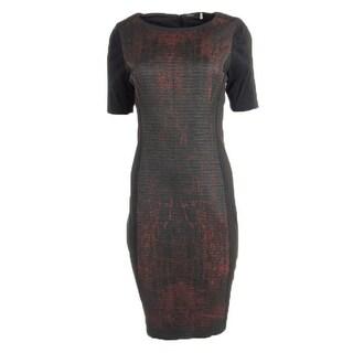 Elie Tahari Womens Kylie Textured Short Sleeves Wear to Work Dress - 12
