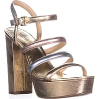 MICHAEL Michael Kors Nantucket Platform Sandals, Pale Gold/Silver Gold