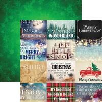 "Christmas Spirit Double-Sided Cardstock 12""X12""-Christmas Spirit"