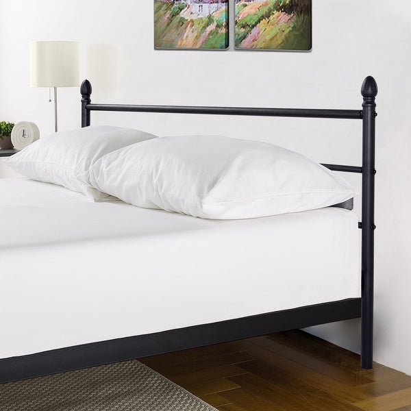 vecelo queen size platform bed frame metal mattress foundation with le headboard free shipping today