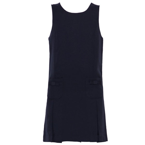2c59742a5 Shop Nautica Little Girls Navy Bow Detail School Uniform Jumper Dress 4 -  Free Shipping On Orders Over $45 - Overstock - 18174178