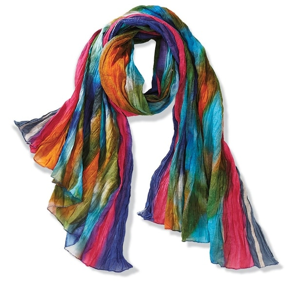 Women's Northern Lights Crinkly Cotton Fashion Scarf - Medium