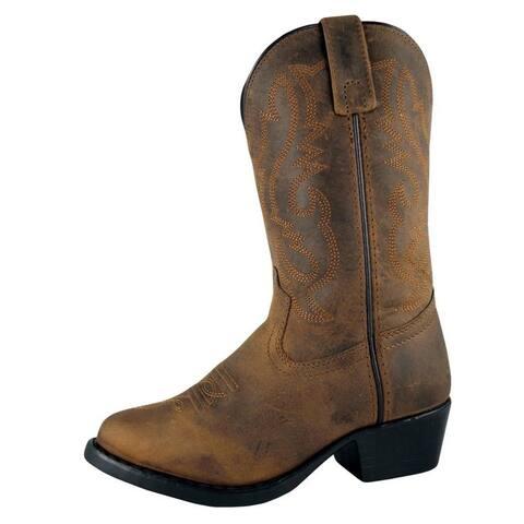 Smoky Mountain Western Boots Boys Denver Western Toe Brown