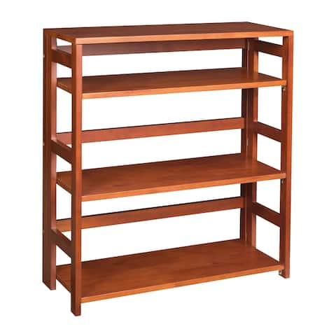 "Fairway 34"" High Folding Bookcase- Cherry"