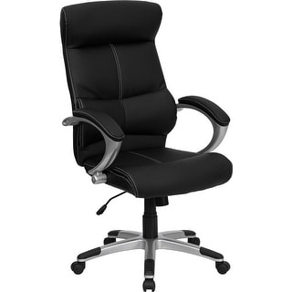Offex High Back Black Leather Executive Office Chair [OF-H-9637L-1C-HIGH-GG]