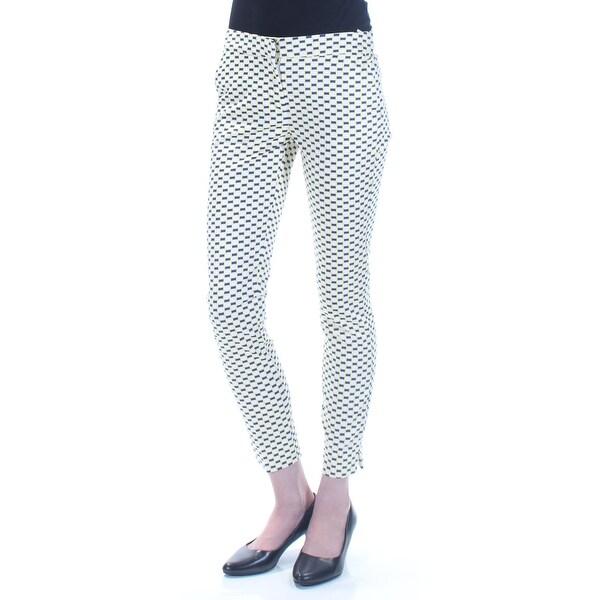 bebe66e8a5 XOXO $59 Womens New 1503 White Geometric Curvy Fit Slim At Ankle Pants 0 B+B