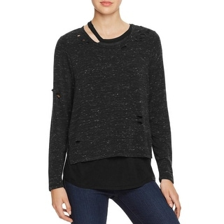 Generation Love Womens Pullover Top Silk Holes - m