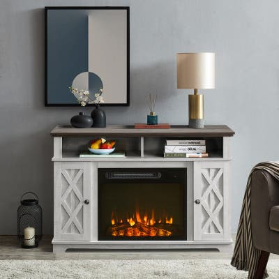 48 in. TV Stand for TVs up to 55 in. with Electric Fireplace