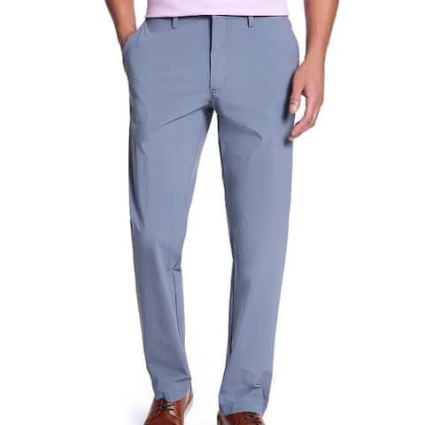Alfani Mens Pants Infinity Blue Size 40x32 AlfaTech Stretch Flat Front