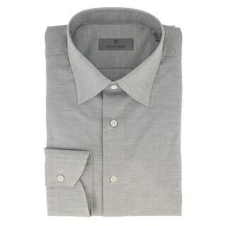 Canali Grey Weave Formal Shirts