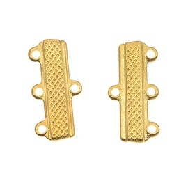 22K Gold Plated Triple Bead Strand Reducer Connector (6)