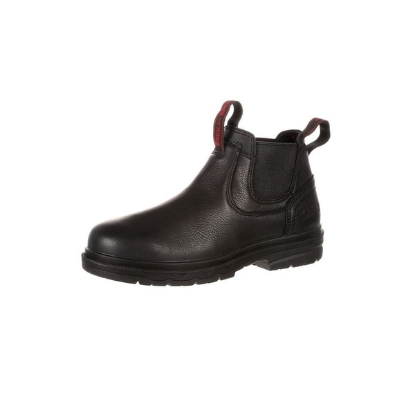 Rocky Work Boots Mens Elements Shale Waterproof Romeo Black