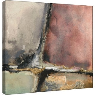 """PTM Images 9-100956  PTM Canvas Collection 12"""" x 12"""" - """"Gilded Crevice 7"""" Giclee Abstract Art Print on Canvas"""