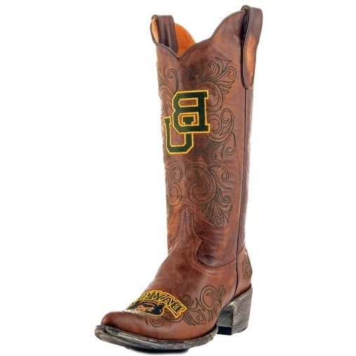 Gameday Boots Womens College Team Baylor Bears Brass Gold