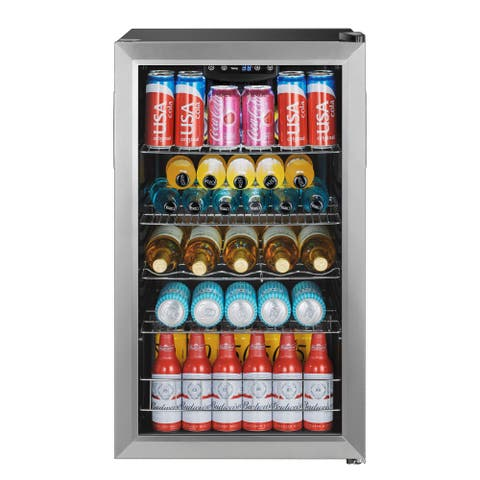 "EdgeStar BWC121 19"" Wide 105 Can Capacity Extreme Cool Beverage Center - Stainless Steel"