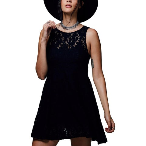 Free People Womens Casual Dress Mesh Lace
