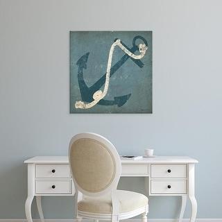 Easy Art Prints Ryan Fowler's 'Nautical Anchor Blue' Premium Canvas Art