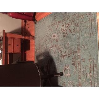 Teal/ Grey Area Rug (5' x 7'6)
