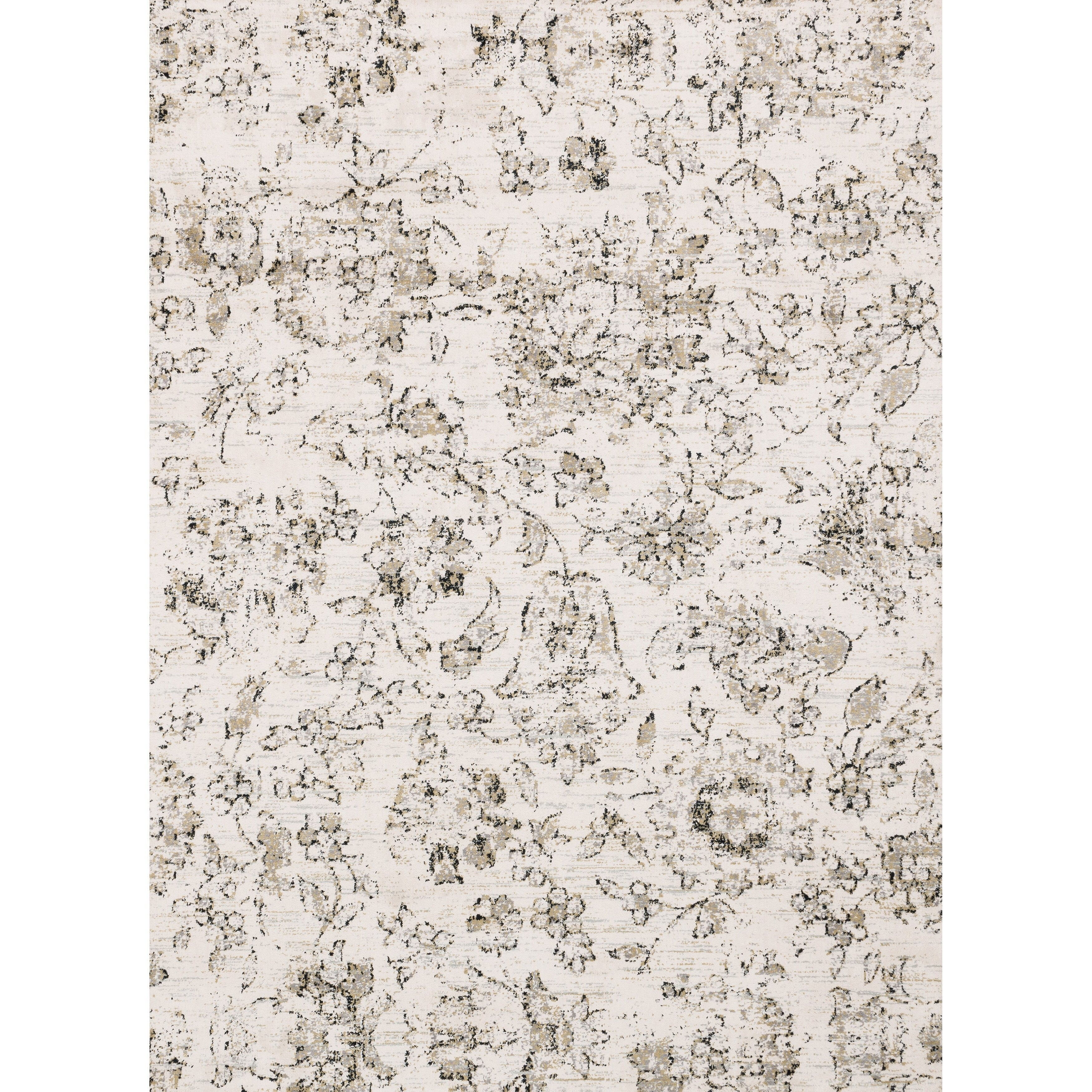 Shop Alexander Home Verona Shabby Chic Botanical And Floral Rug On Sale Overstock 12546845 3 9 X 5 9 Ivory Neutral
