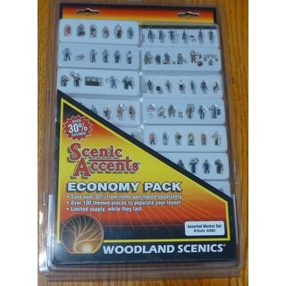 Woodland Scenics WOO2062 N Worker Set, Assorted