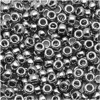 Toho Round Seed Beads 8/0 711 - Nickel (8 Grams)