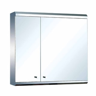 Medicine Cabinet Stainless Steel Double Door Surface Mount Renovator's Supply