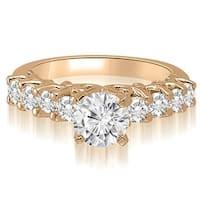 1.30 cttw. 14K Rose Gold Round Cut Diamond Engagement Ring
