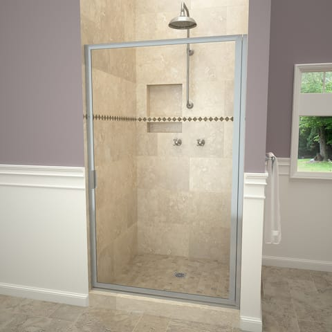 """Tile Redi 11RCFD03464 Redi Swing 63-1/2"""" High x 34-3/4"""" Wide Hinged Framed Shower Door with Clear Glass"""