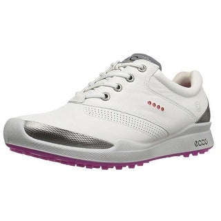 Ecco Womens Biom Hybrid 37 Euro 6-6.5 White/Candy YAK Golf Shoes