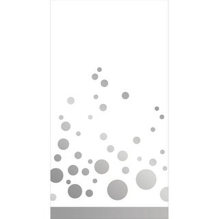 """Club Pack of 192 Sparkle and Shine Silver Premium Disposable Party Paper Guest Napkins 8"""""""
