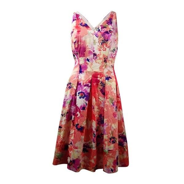 196a73d125 Shop Lauren Ralph Lauren Women s V-Neck Floral Sundress - Free Shipping On  Orders Over  45 - Overstock - 16086286